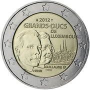 Luksemburg 2€ 2012 Grands-Ducs